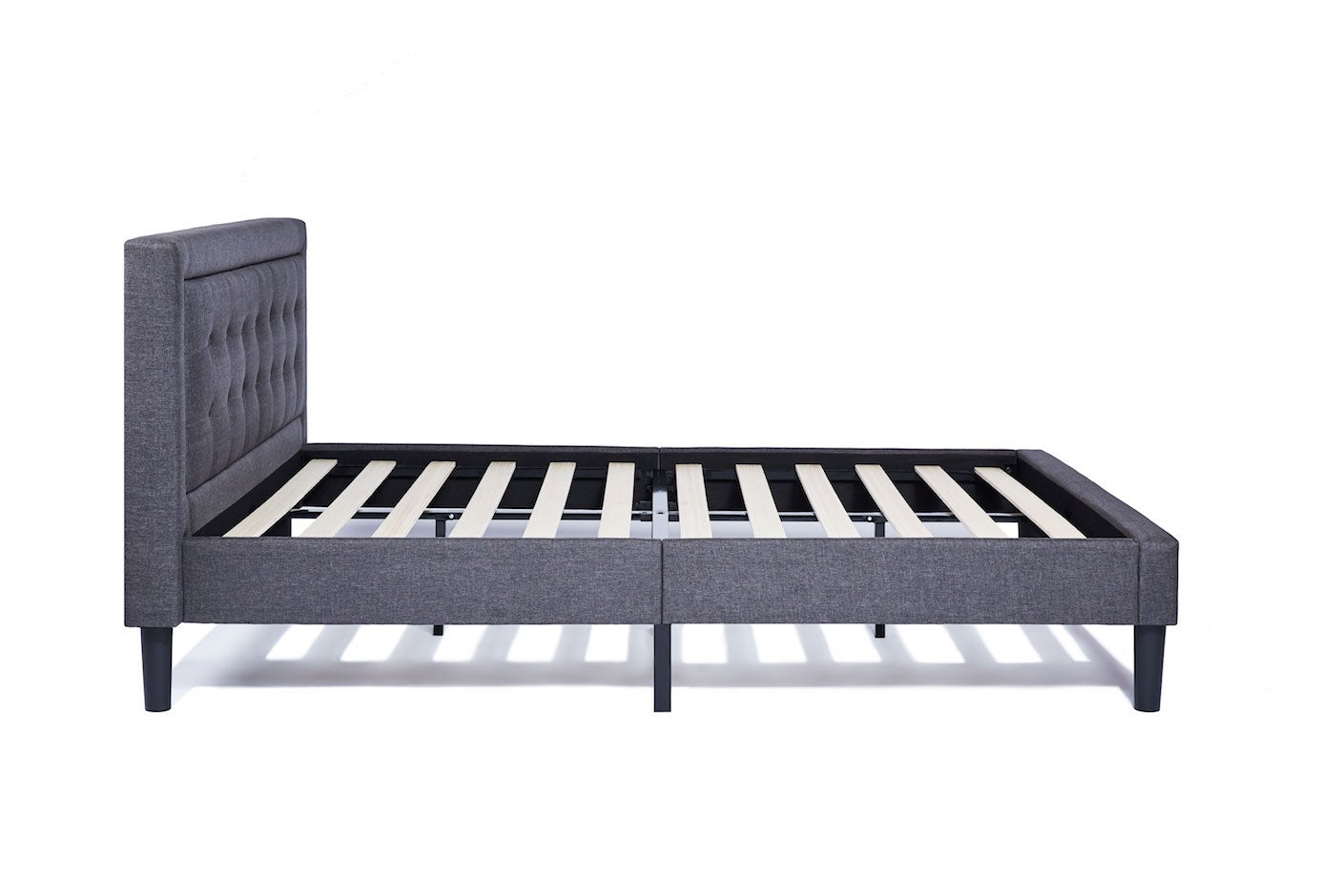 King Size Bed Frame With Headboard Grey